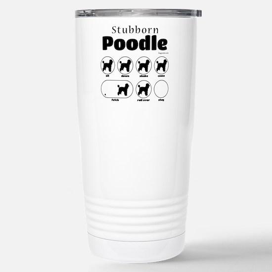 Stubborn Poodle 2 Stainless Steel Travel Mug