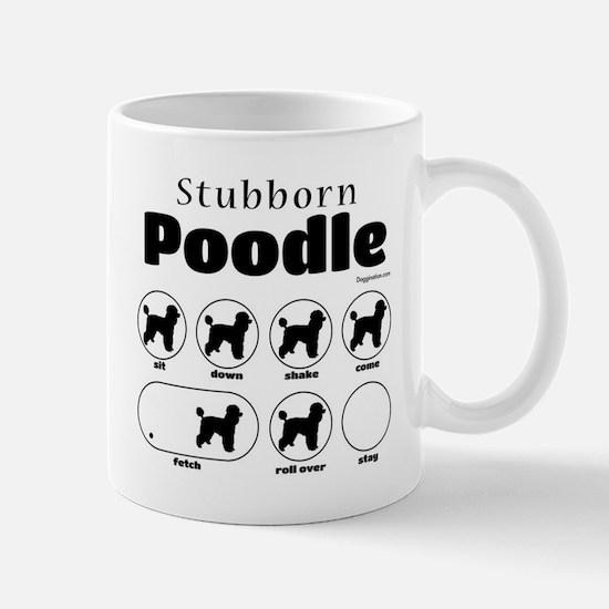 Stubborn Poodle 2 Mug