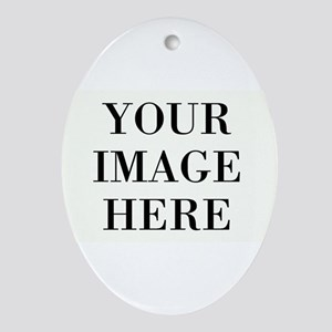 Your Photo Here Design Oval Ornament