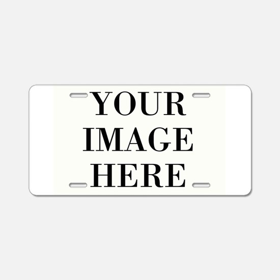 Your Photo Here Design Aluminum License Plate