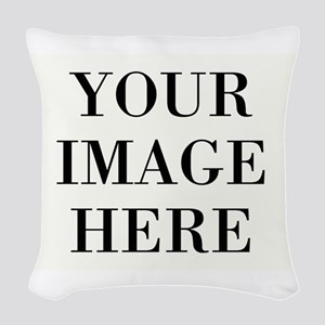 Your Photo Here Design Woven Throw Pillow