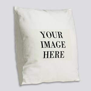 Your Photo Here Design Burlap Throw Pillow