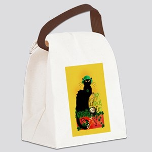 Chat Noir St Patricks Day Canvas Lunch Bag