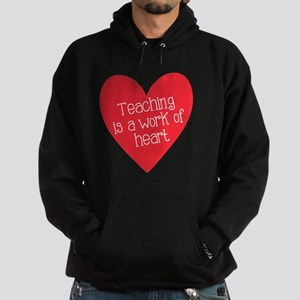 Red Teacher Heart Hoodie (dark)
