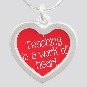 Red Teacher Heart Necklaces