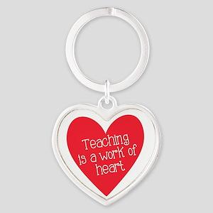 Red Teacher Heart Keychains