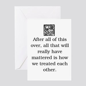 Anti bullying greeting cards cafepress how we treat each other original greeting card m4hsunfo Choice Image