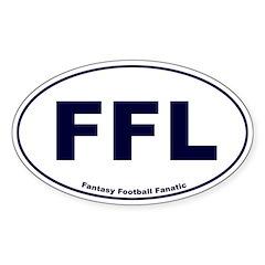 FFL - Fantasy Football Fanatic Oval Decal