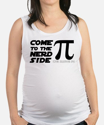 Funny Nerds r cool Maternity Tank Top