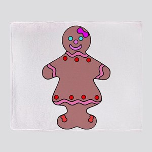 Ginger Bread Woman Throw Blanket