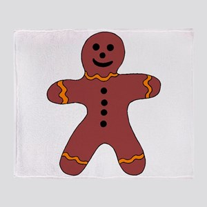 Ginger Bread Man Throw Blanket