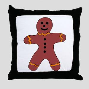 Ginger Bread Man Throw Pillow