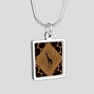 Giraffe with Animal Print Necklaces