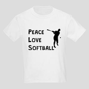 Peace Love Softball T-Shirt