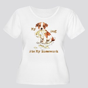 Parson Russell Women's Plus Size Scoop Neck T-Shir