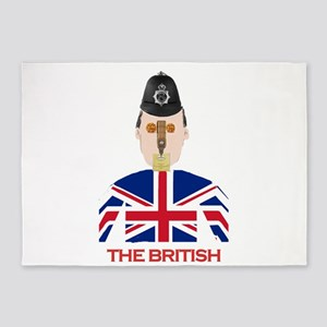 The British 5'x7'Area Rug