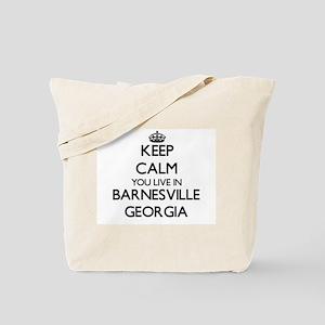 Keep calm you live in Barnesville Georgia Tote Bag