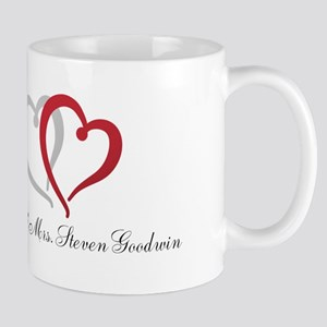 Hearts and Names to Personalize Mugs