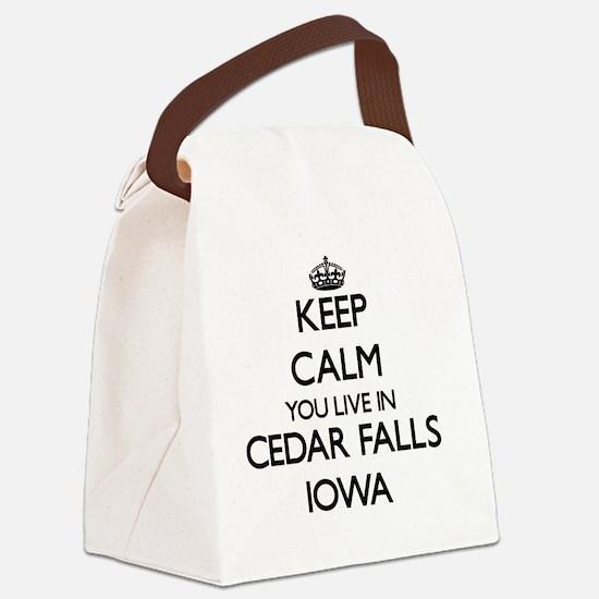 Keep calm you live in Cedar Falls Canvas Lunch Bag