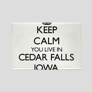 Keep calm you live in Cedar Falls Iowa Magnets