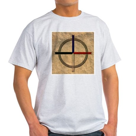 Cherokee Medicine Wheel Ash Grey T-Shirt