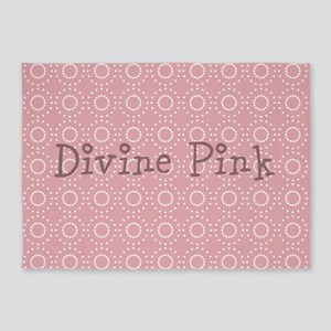 Cute Pink Pattern 5'x7'Area Rug