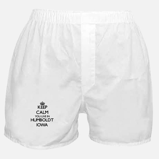 Keep calm you live in Humboldt Iowa Boxer Shorts