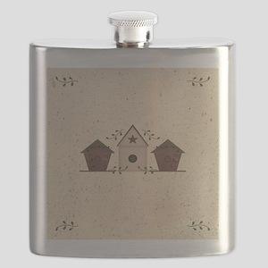 Primitive Birdhouses Flask