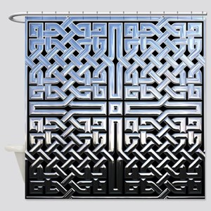 Chrome Celtic Knot Shower Curtain
