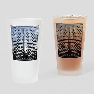 Chrome Celtic Knot Drinking Glass