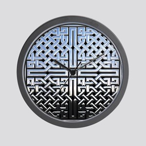 Chrome Celtic Knot Wall Clock