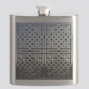 Chrome Celtic Knot Flask