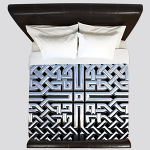 Chrome Celtic Knot King Duvet