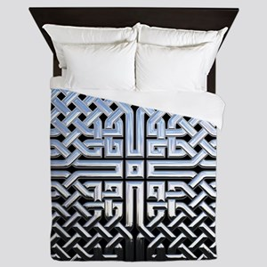 Chrome Celtic Knot Queen Duvet
