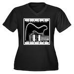 Tonecaster Women's Plus Size V-Neck Dark T-Shirt