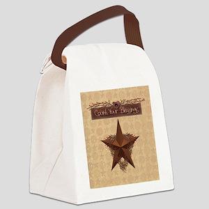 Primitive Star Canvas Lunch Bag