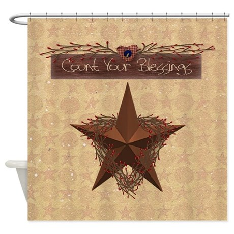 Primitive Star Shower Curtain by mousefx