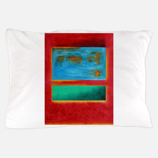ROTHKO IN RED BLUE GREEN 2 Pillow Case