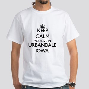 Keep calm you live in Urbandale Iowa White T-Shirt
