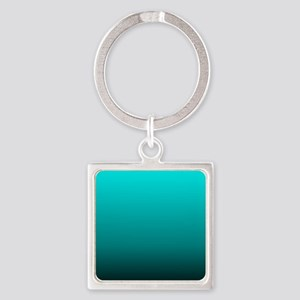 modern black turquoise ombre Keychains