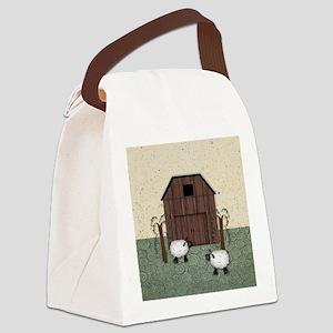 Barn Sheep Canvas Lunch Bag