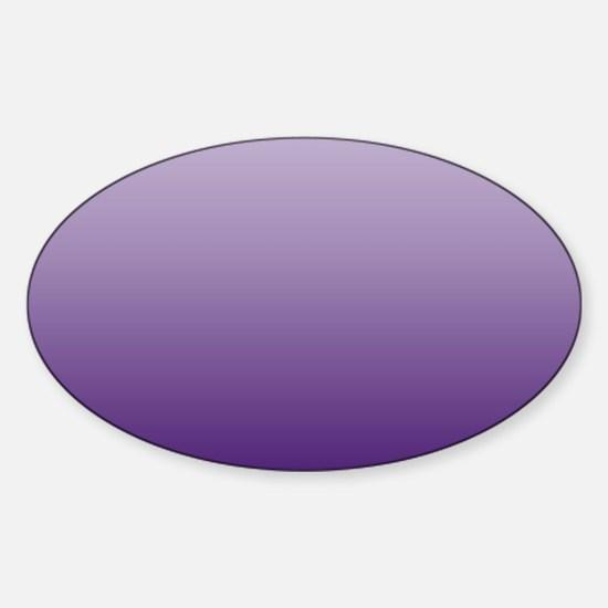 modern purple ombre Sticker (Oval)