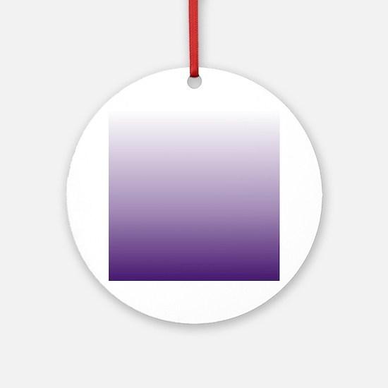 modern purple ombre Round Ornament