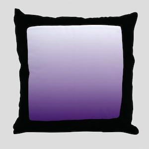 modern purple ombre Throw Pillow