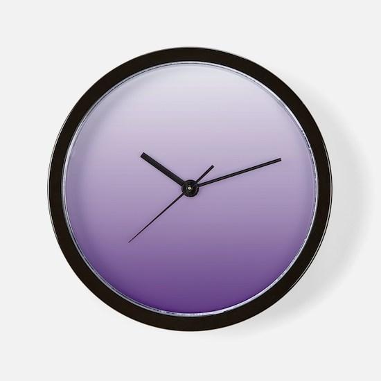 modern purple ombre Wall Clock