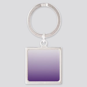 modern purple ombre Square Keychain