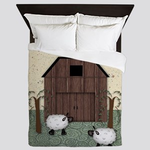 Barn Sheep Queen Duvet
