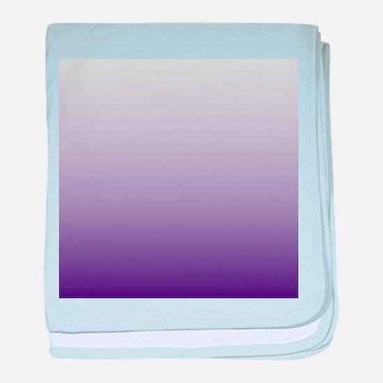 modern purple ombre baby blanket