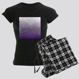 modern purple ombre Women's Dark Pajamas