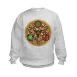 Celtic Reindeer Shield Kids Sweatshirt